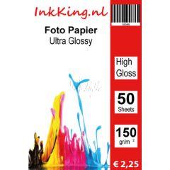 INKKING Fotopapier Hoogglans 15X10 150gr 1-Zijdig 50st.