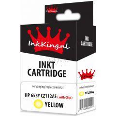 hp 655 cz112ae yellow inkking