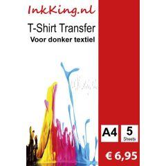 T-hirt transfer voor donker textiel inkking