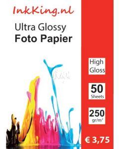 INKKING Fotopapier Hoogglans 13X18 250gr 1-Zijdig 50st.