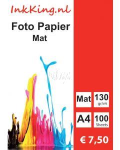 INKKING Fotopapier Mat A4 130gr 1-Zijdig 100st.