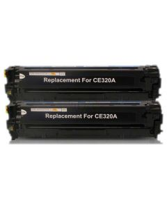 Non-Genuine HP 128A CE320AD Toner Black 2-Pack Inkking