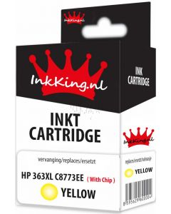 hp 363xl C8773e yellow inkking