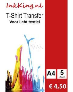 T-shirt transfer voor lichte kleuren inkking